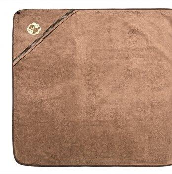Пеленка-капюшон махровая Мишка Idea 8-02391 бежевый 100х100 см