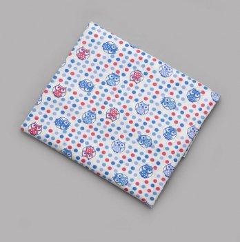Пеленка ситцевая для мальчика Модный карапуз Совы 01-00136-6