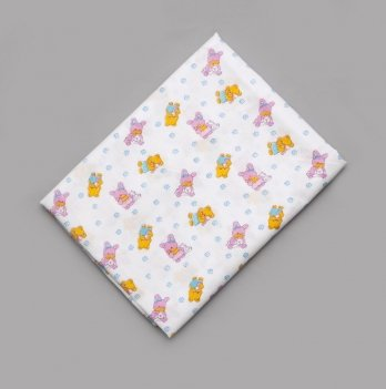 Пеленка ситцевая для мальчика Модный карапуз Мишки 01-00136-5