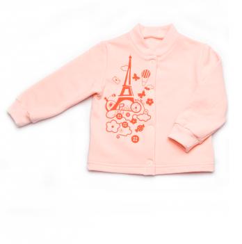 Кофточка утепленная для девочек Модный карапуз, персиковая