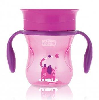 Чашка-непроливайка Chicco Perfect Cup 12+ Розовый 06951.10.50 200 мл