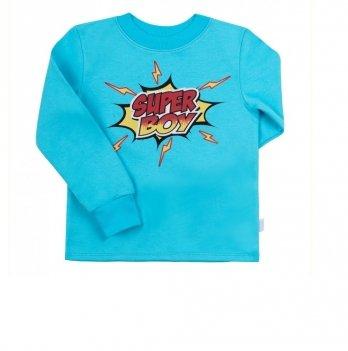 Пижама для мальчика Bembi Голубой/Зеленый Интерлок ПЖ39