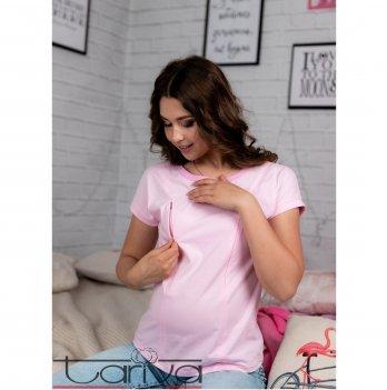 Футболка для будущих и кормящих мам Tariva Cotton 00017 нежно-розовый
