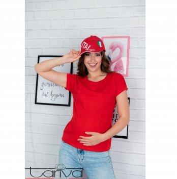 Футболка для будущих и кормящих мам Tariva Cotton 00018 красный