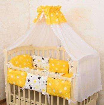 Комплект постельного белья в кроватку Бетис Королевский Сон-7 Желтый 60х120 см