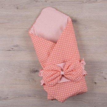 Демисезонный конверт-одеяло весна осень Бетис Вишенка Коралловый