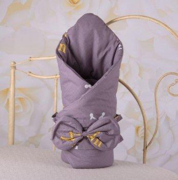 Демисезонный конверт-одеяло с поясом резинкой Бетис Корона Фиолетовый 27683324 85х85 см