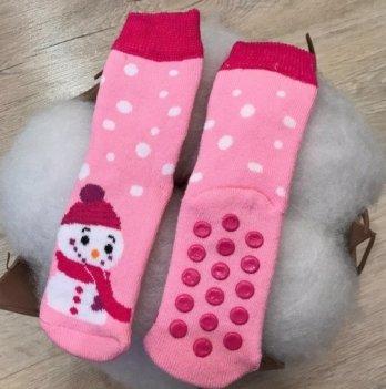 Носки Бетис махра Снеговик Розовый 1061