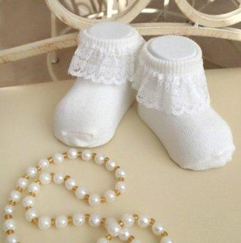 Детские носочки для малышей Бетис Рюш Молочный