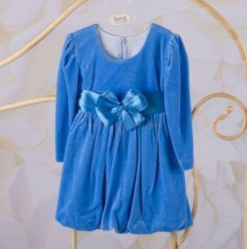 Платье Бетис Красотка велюр Голубой 27071628