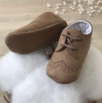 Пинетки на шнурках Бетис Модель-17 текстиль Кофейный