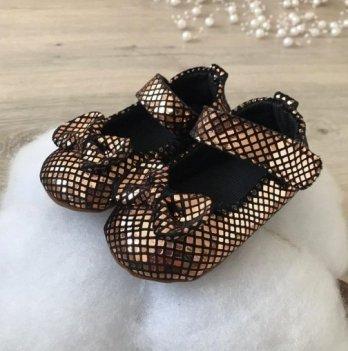 Пинетки на липучках Бетис Модель-10 текстиль Бронзовый
