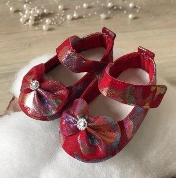 Пинетки Бетис Модель-67 Красный текстиль