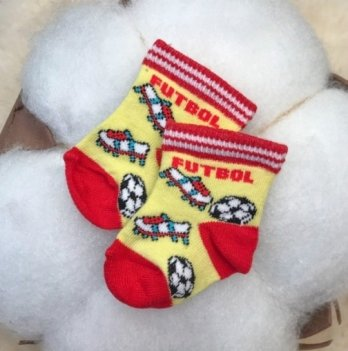 Детские носочки для малышей Бетис Футбол Желтый 1026