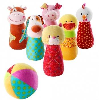 Набор мягких игрушек для детского боулинга Lilliputens Ферма
