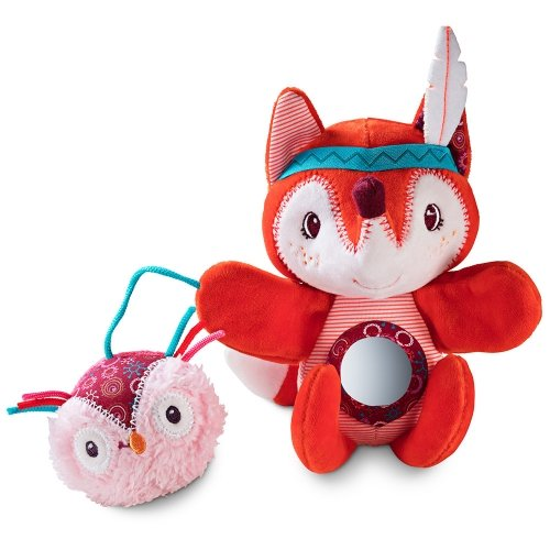 Ручная игрушка-погремушка Lilliputiens лисичка Алиса