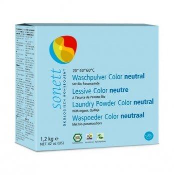 Органический стиральный порошок для цветных тканей Sonett. Нейтральная серия. Концентрат. 1,2 кг