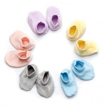 Пинетки утепленные для малышей Модный карапуз футер 302-00004 персиковые
