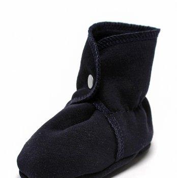 Пинетки ботиночки утепленные для новорожденного обувь Модный карапуз, синие 03-00775