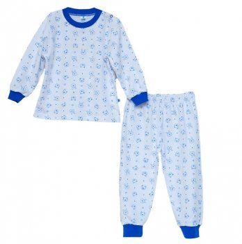 Пижама для мальчика Minikin 00701, цвет белый/синий