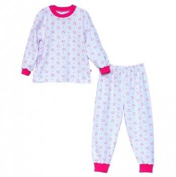 Пижама для девочки Minikin 00701, цвет белый/фуксия
