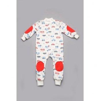 Пижама-комбинезон для мальчика Модный карапуз Машинки 03-00934