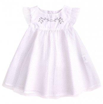 Детское платье Bembi Белый Вуаль ПЛ254