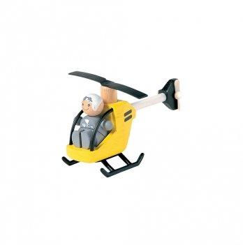 Деревянная игрушка PlanToys® Вертолет с пилотом