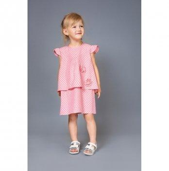Платье для девочки Модный карапуз, розовая звездочка