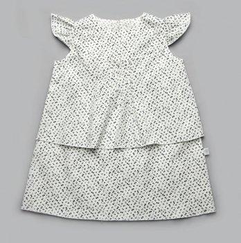 Платье белый Модный карапуз 03-00858 белый принт цветочки