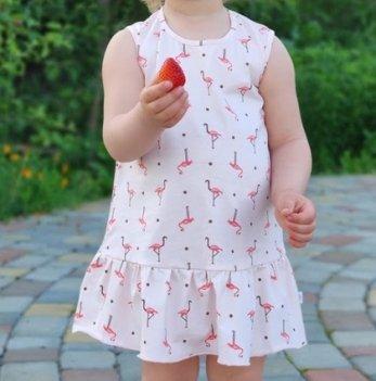 Детское платье для девочки Модный карапуз Фламинго Розовый 2-4 года