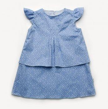 Платье голубой Модный карапуз 03-00858 голубой принт цветочки