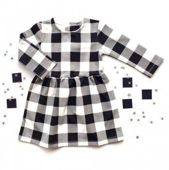 Платье Merrygoround, Клеточка черная