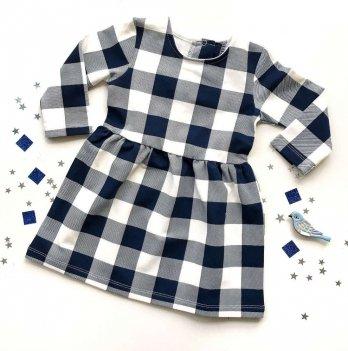 Платье Merrygoround, Клеточка синяя