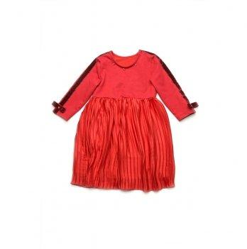 Платье для девочки Модный карапуз Красный 03-00833