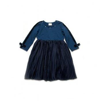 Платье для девочки Модный карапуз Синий 03-00833