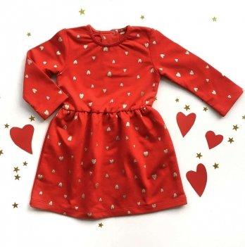 Платье Ripka, Сердечки красный