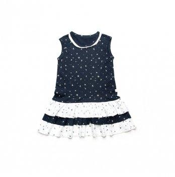 Платье для девочки Модный карапуз Якоря Синий 03-00881