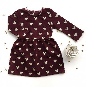 Платье Ripka, Микки бордовый