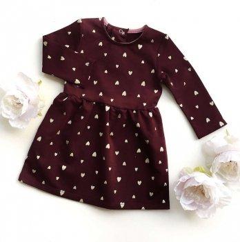 Платье Ripka, Сердечки бордовый