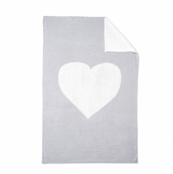 Плед Blankee Love White/Silver