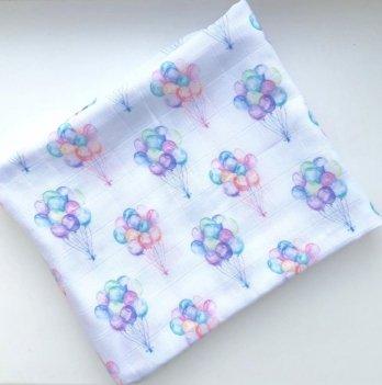 Муслиновая пеленка Embrace Маленькие воздушные шары 120х100 см
