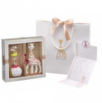 Подарочный набор Vulli Sophiesticated для новорожденных, жираф Софи + погремушка-маракас