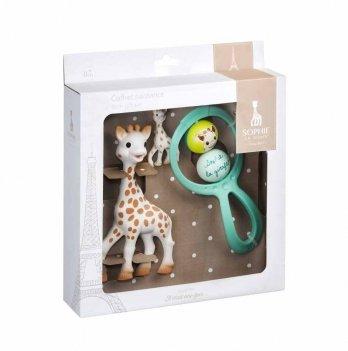 Подарочный набор Vulli Sophie la girafe (Жирафа Софи, погремушка, брелок)