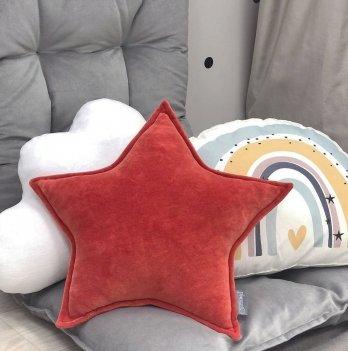 Декоративная подушка Маленькая соня Звезда Красный 106121548
