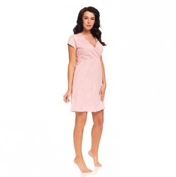 Ночная рубашка для беременных и кормящих мам Dobranocka, 9394 sweet pink