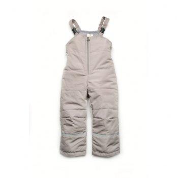 Полукомбинезон детский демисезонный Модный карапуз Серый 03-00837