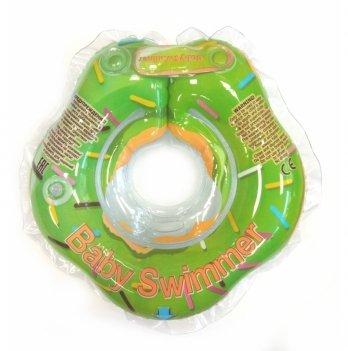 Круг на шею BabySwimmer Салатовый пончик для детей от 0-24 месяцев и 3-12 кг