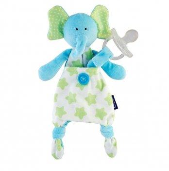 Игрушка с клипсой для пустышки Chicco Elephant 08013.20