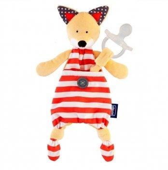 Игрушка с клипсой для пустышки Chicco Fox 08013.10